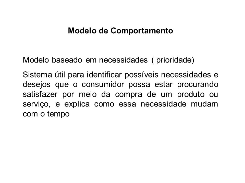Modelo de Comportamento