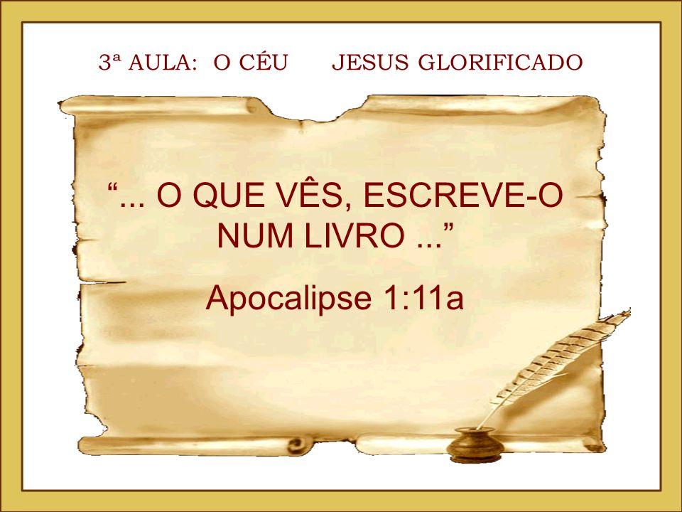 ... O QUE VÊS, ESCREVE-O NUM LIVRO ... Apocalipse 1:11a