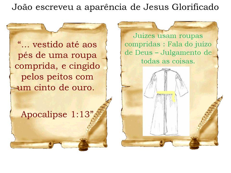João escreveu a aparência de Jesus Glorificado