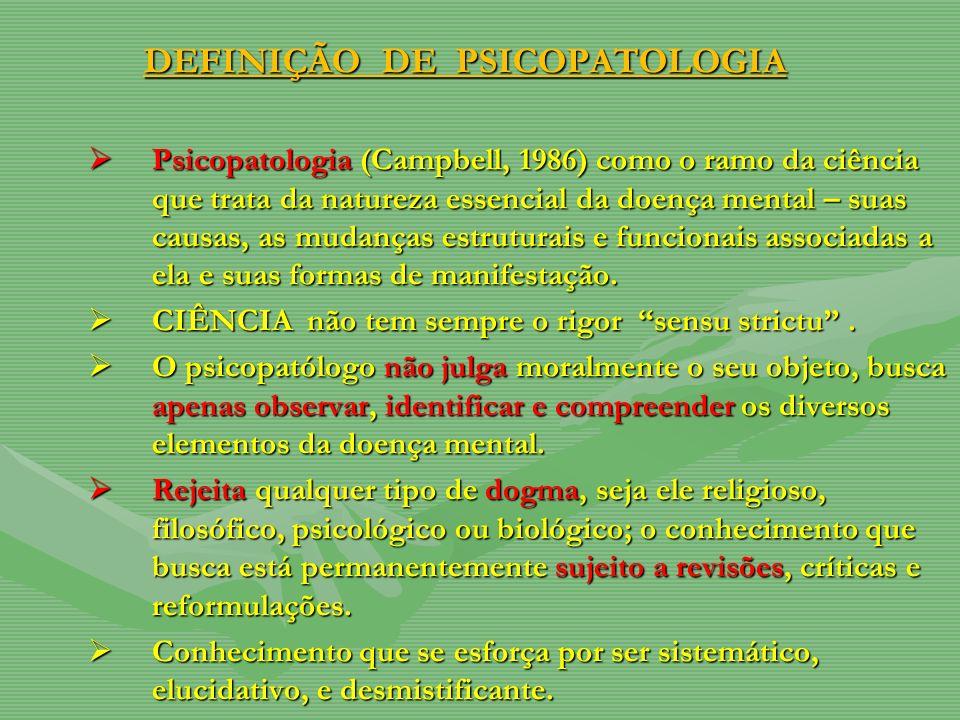 DEFINIÇÃO DE PSICOPATOLOGIA