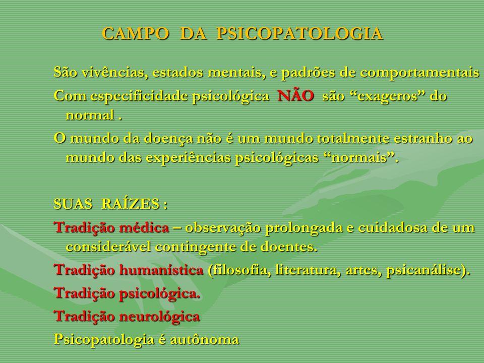 CAMPO DA PSICOPATOLOGIA