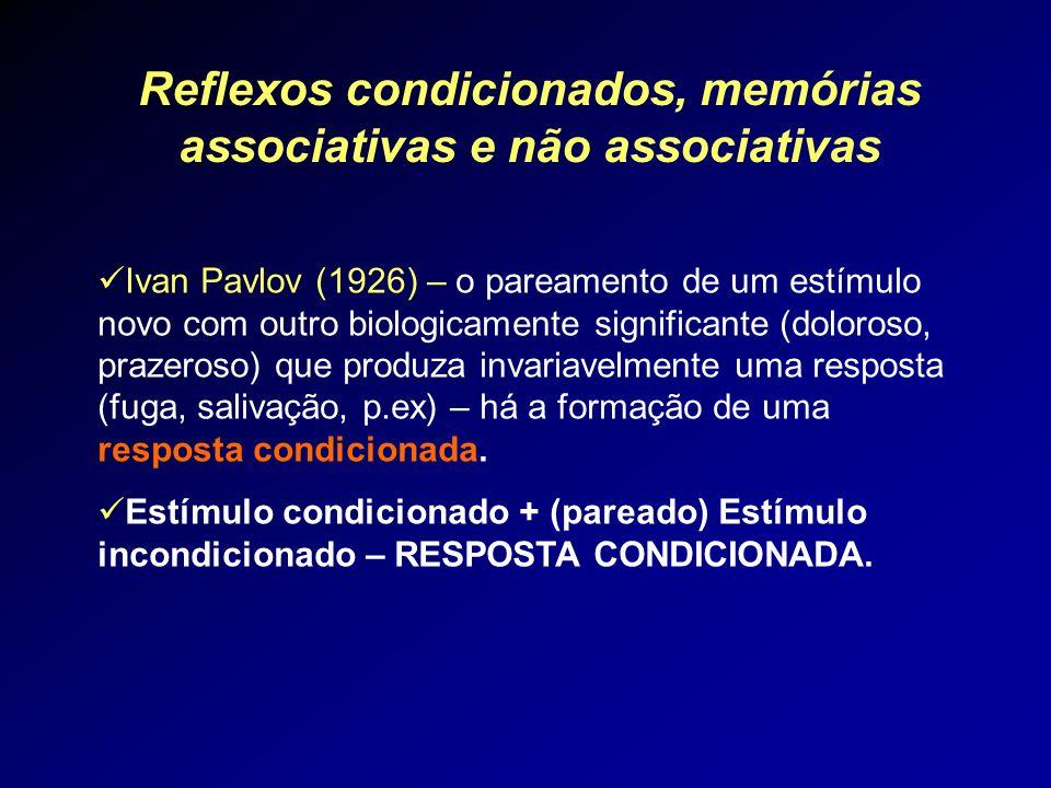 Reflexos condicionados, memórias associativas e não associativas