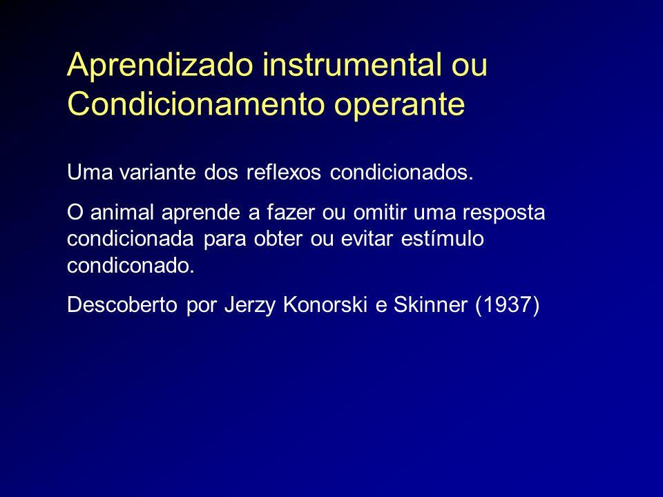 Aprendizado instrumental ou Condicionamento operante