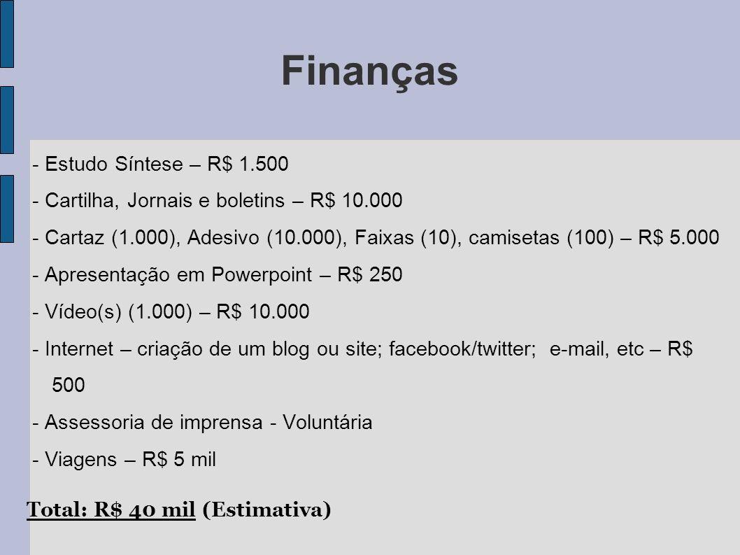 Finanças - Estudo Síntese – R$ 1.500