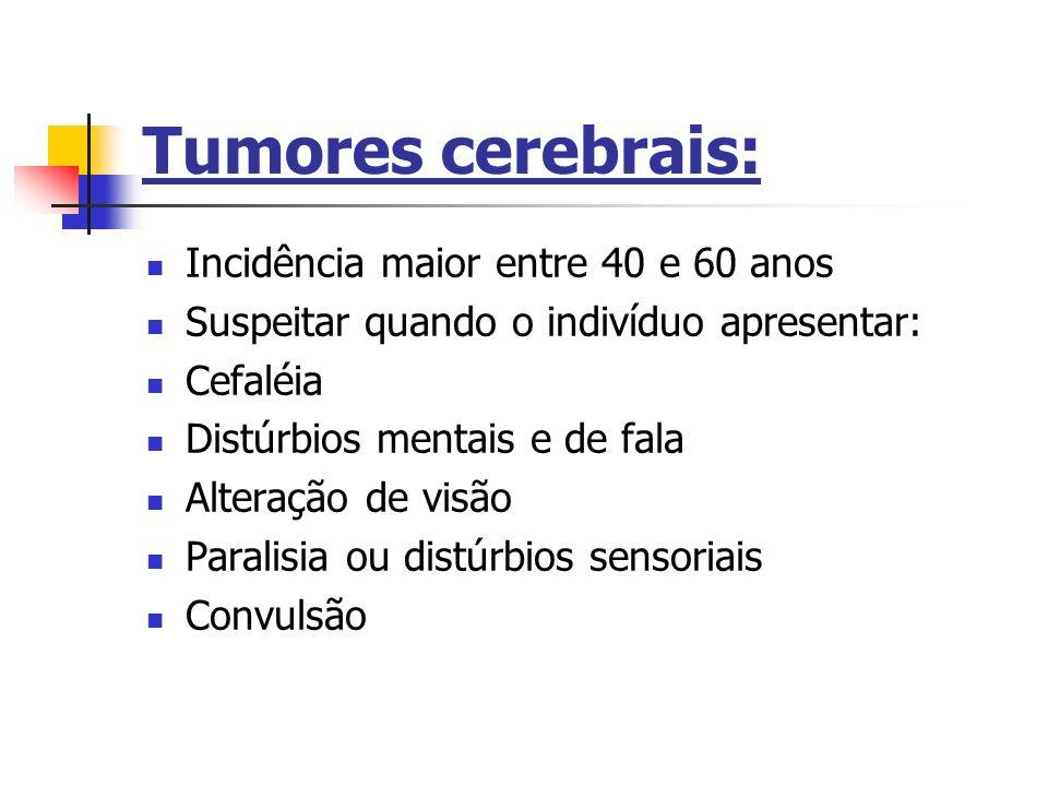 Tumores cerebrais: Incidência maior entre 40 e 60 anos