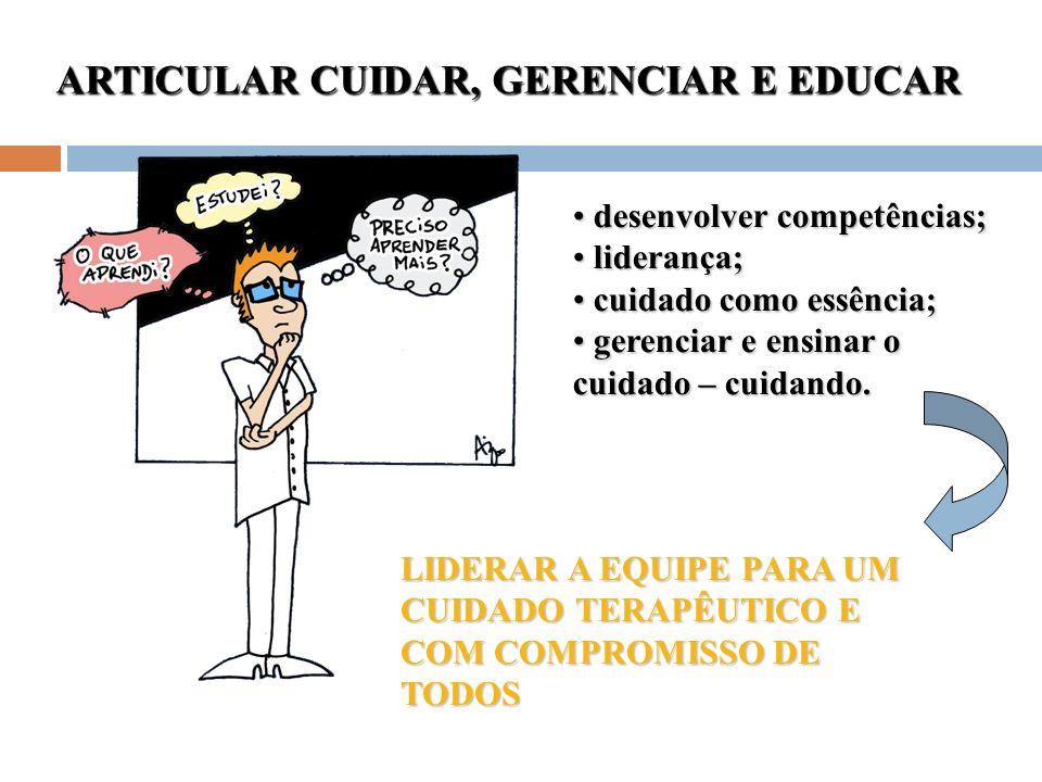 ARTICULAR CUIDAR, GERENCIAR E EDUCAR
