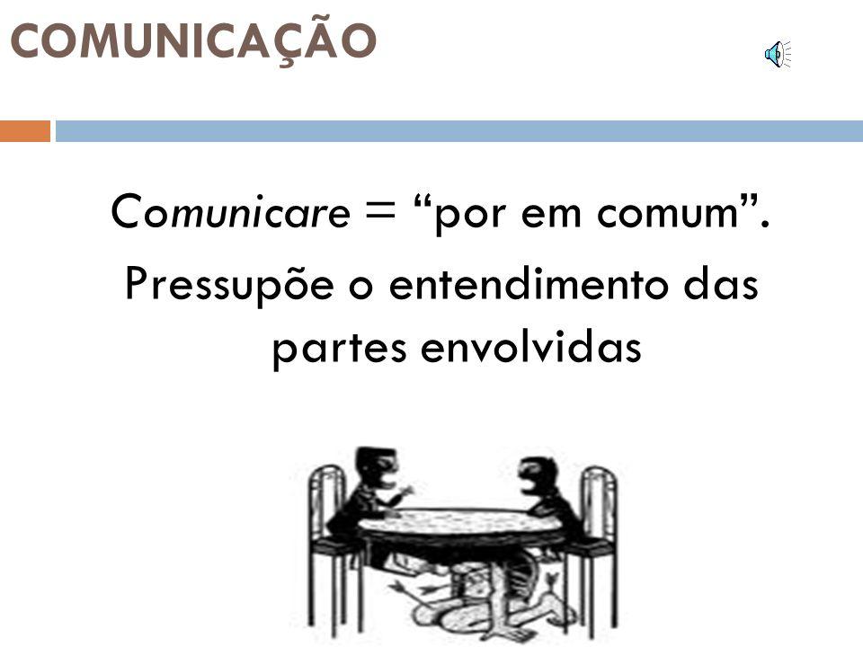 Comunicare = por em comum .