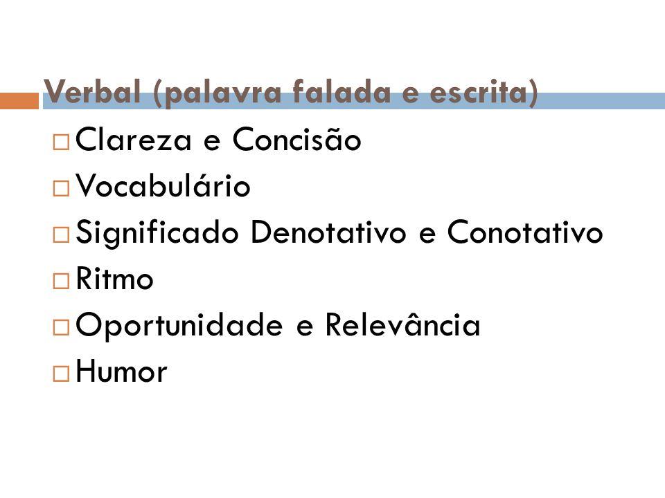 Verbal (palavra falada e escrita)