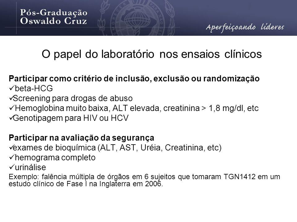 O papel do laboratório nos ensaios clínicos
