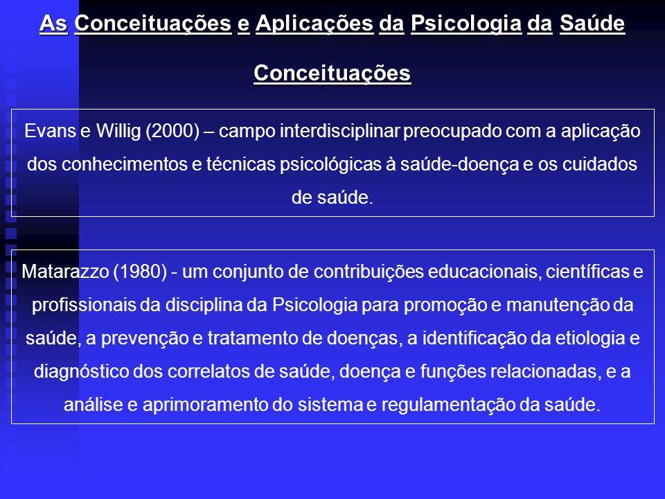As Conceituações e Aplicações da Psicologia da Saúde
