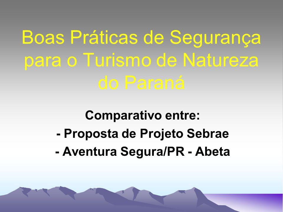 Boas Práticas de Segurança para o Turismo de Natureza do Paraná