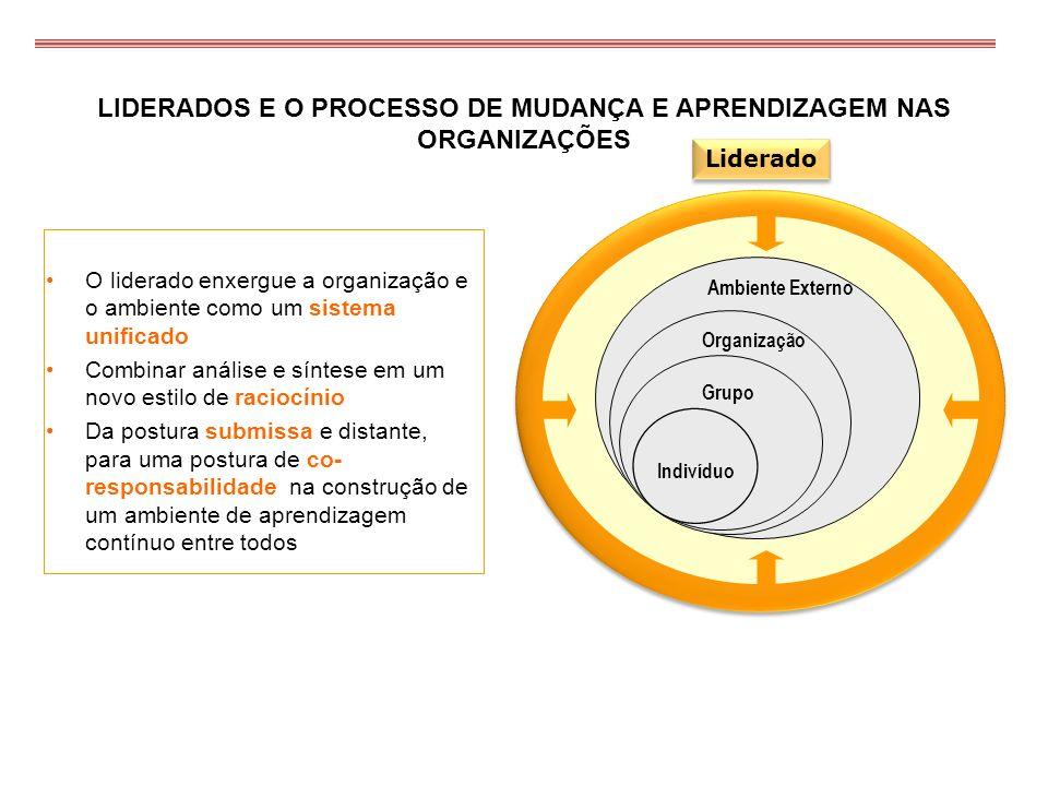 LIDERADOS E O PROCESSO DE MUDANÇA E APRENDIZAGEM NAS ORGANIZAÇÕES