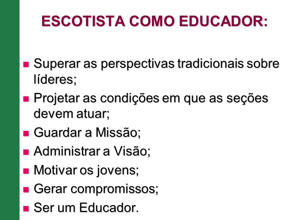 ESCOTISTA COMO EDUCADOR: