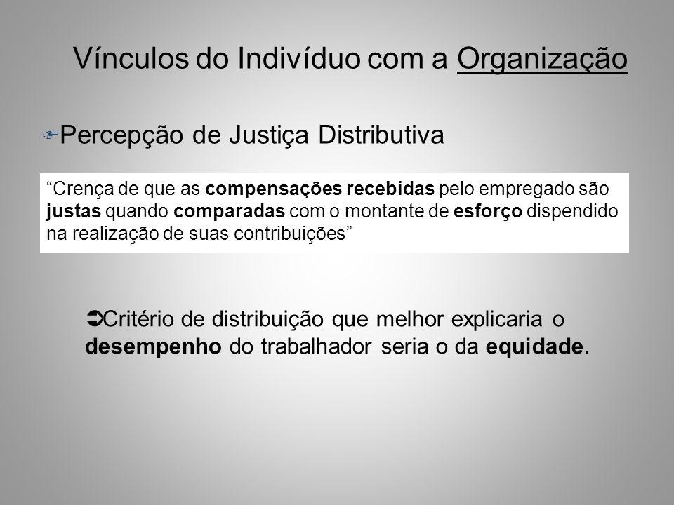 Vínculos do Indivíduo com a Organização