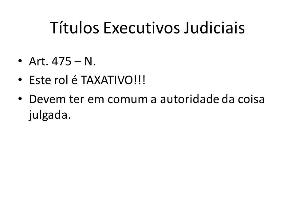 Títulos Executivos Judiciais