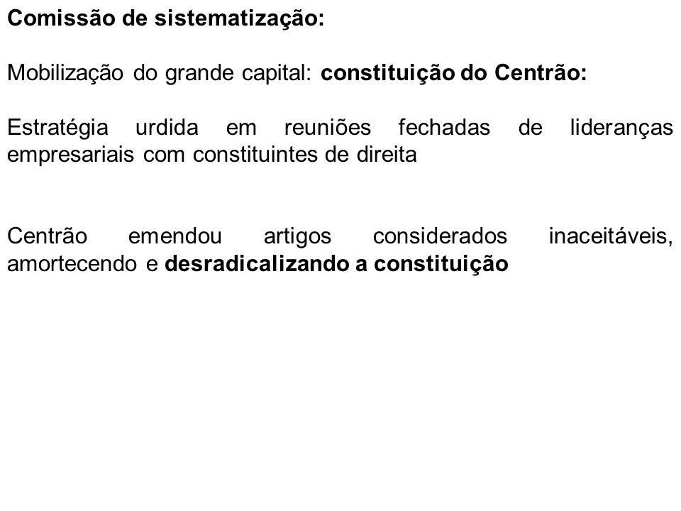 Comissão de sistematização: