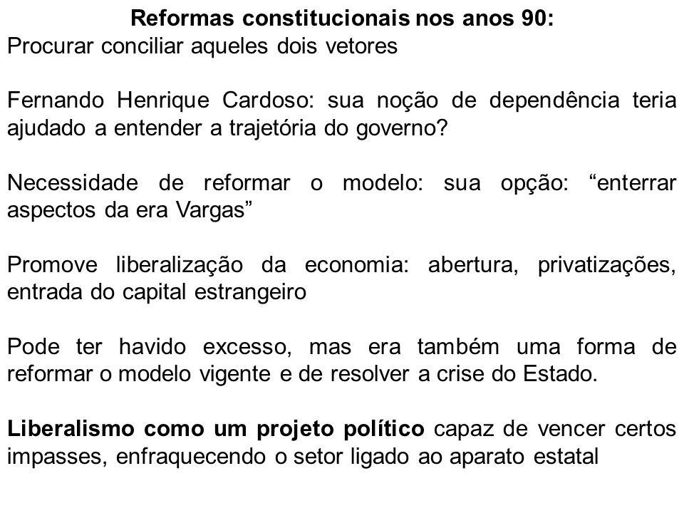 Reformas constitucionais nos anos 90: