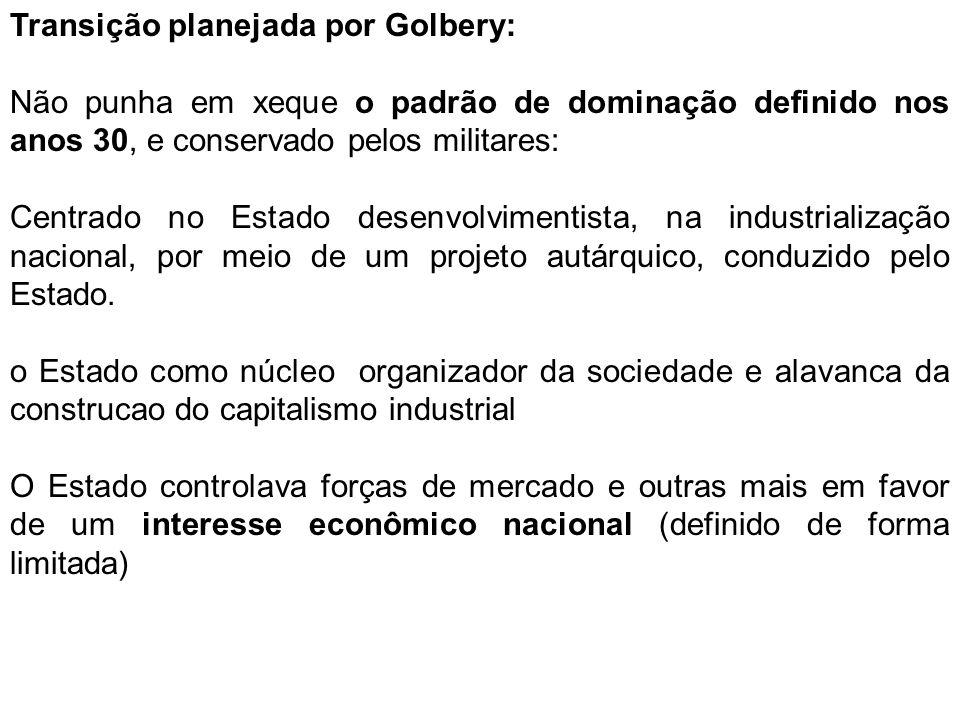 Transição planejada por Golbery: