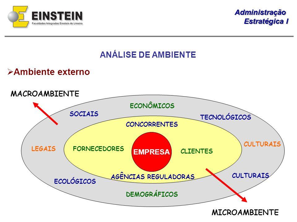 Ambiente externo ANÁLISE DE AMBIENTE MACROAMBIENTE EMPRESA