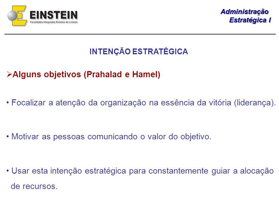 Alguns objetivos (Prahalad e Hamel)