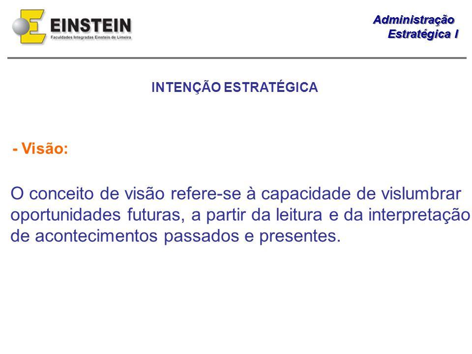INTENÇÃO ESTRATÉGICA - Visão: