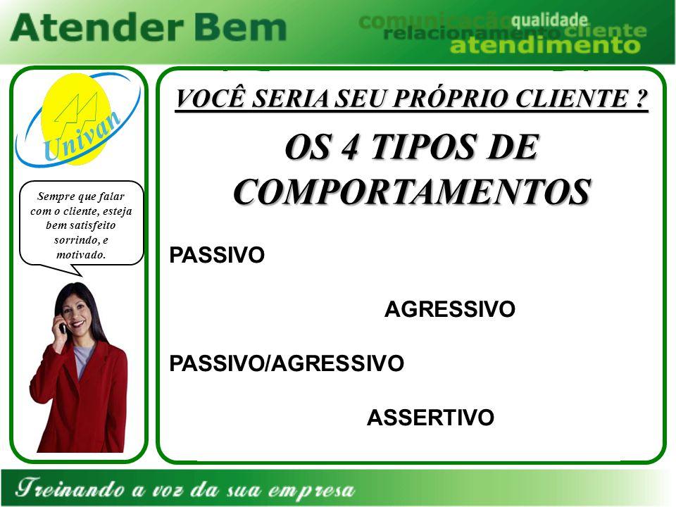 VOCÊ SERIA SEU PRÓPRIO CLIENTE OS 4 TIPOS DE COMPORTAMENTOS
