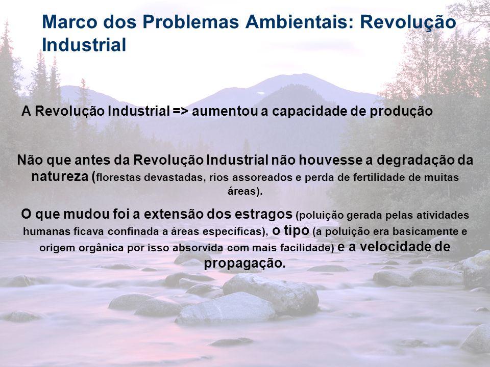 Marco dos Problemas Ambientais: Revolução Industrial