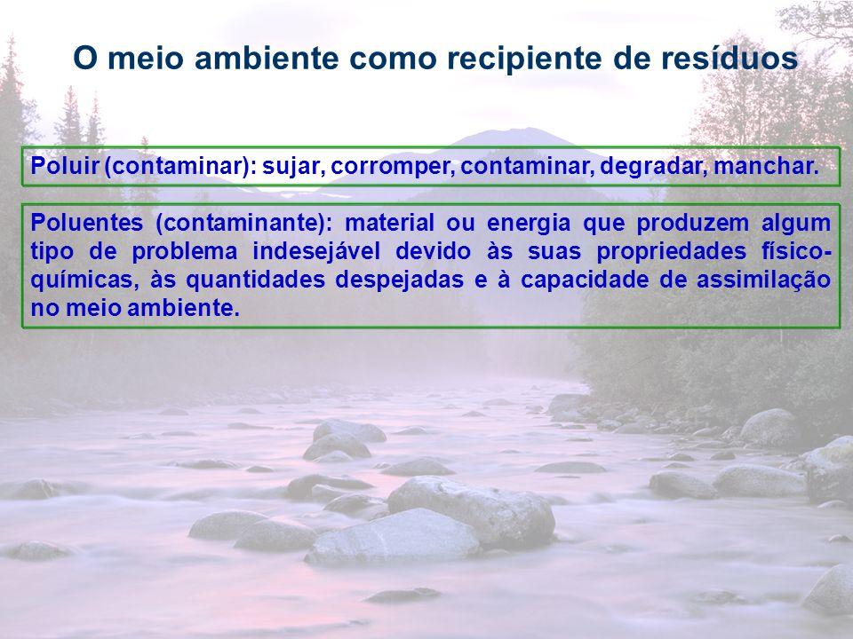 O meio ambiente como recipiente de resíduos