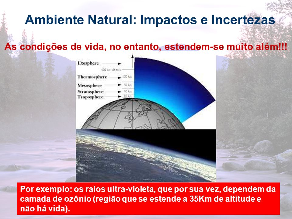 Ambiente Natural: Impactos e Incertezas