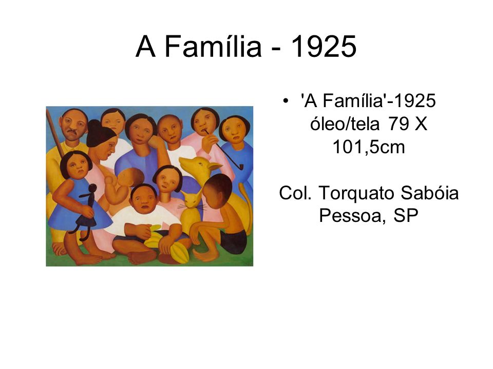 A Família - 1925 A Família -1925 óleo/tela 79 X 101,5cm Col. Torquato Sabóia Pessoa, SP