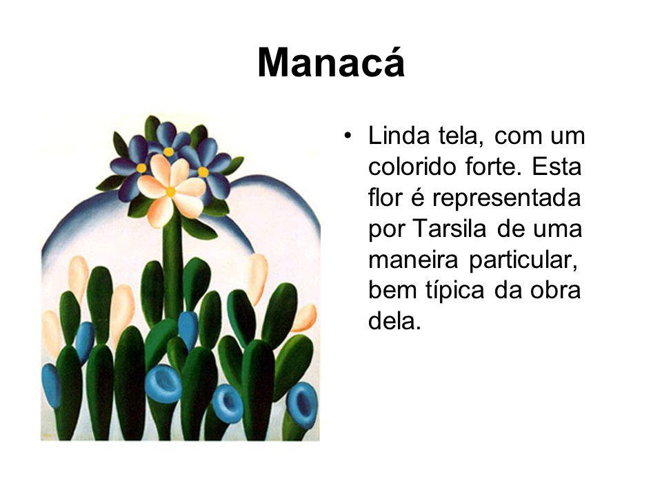 ManacáLinda tela, com um colorido forte.