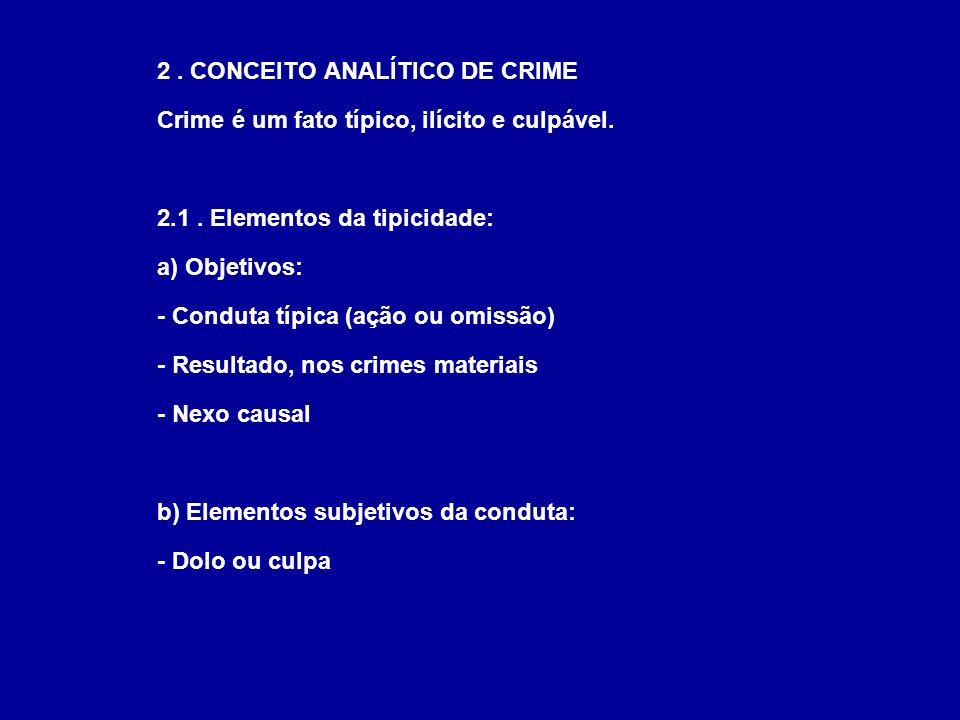 2 . CONCEITO ANALÍTICO DE CRIME