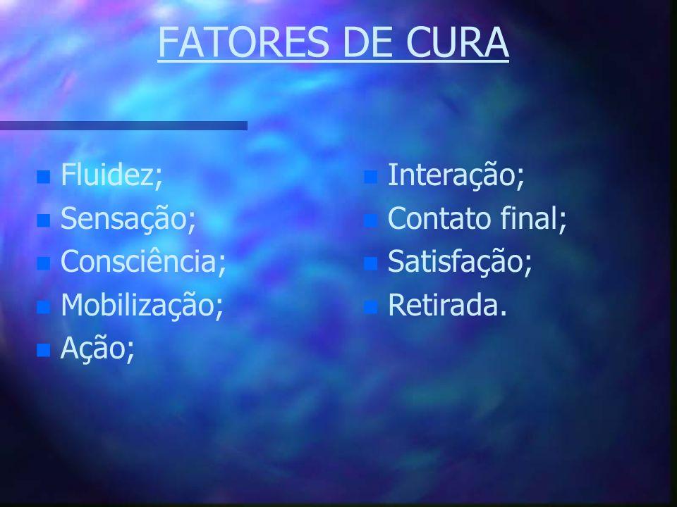 FATORES DE CURA Fluidez; Sensação; Consciência; Mobilização; Ação;