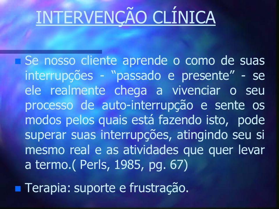 INTERVENÇÃO CLÍNICA