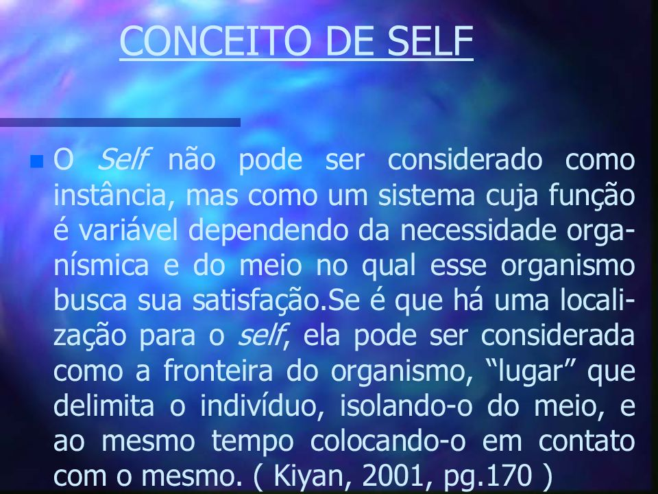 CONCEITO DE SELF