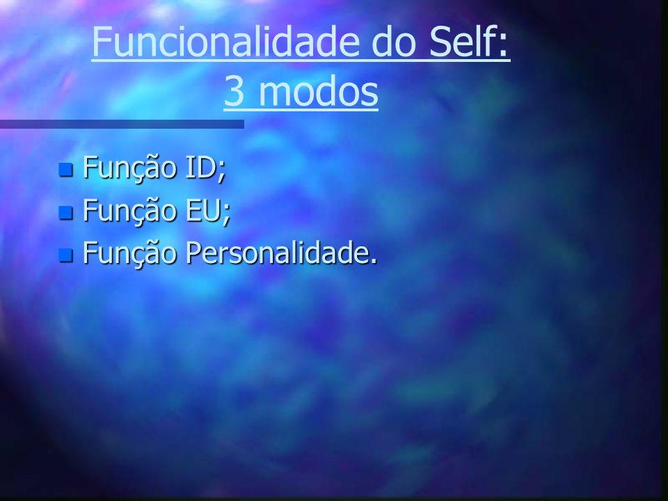 Funcionalidade do Self: 3 modos