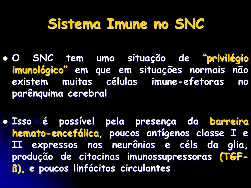 Sistema Imune no SNC