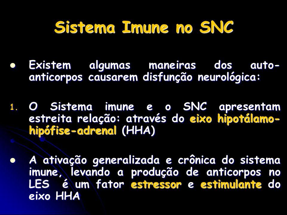 Sistema Imune no SNC Existem algumas maneiras dos auto-anticorpos causarem disfunção neurológica: