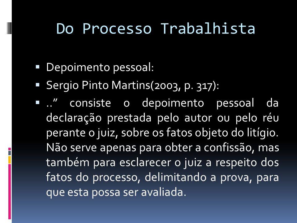 Do Processo Trabalhista