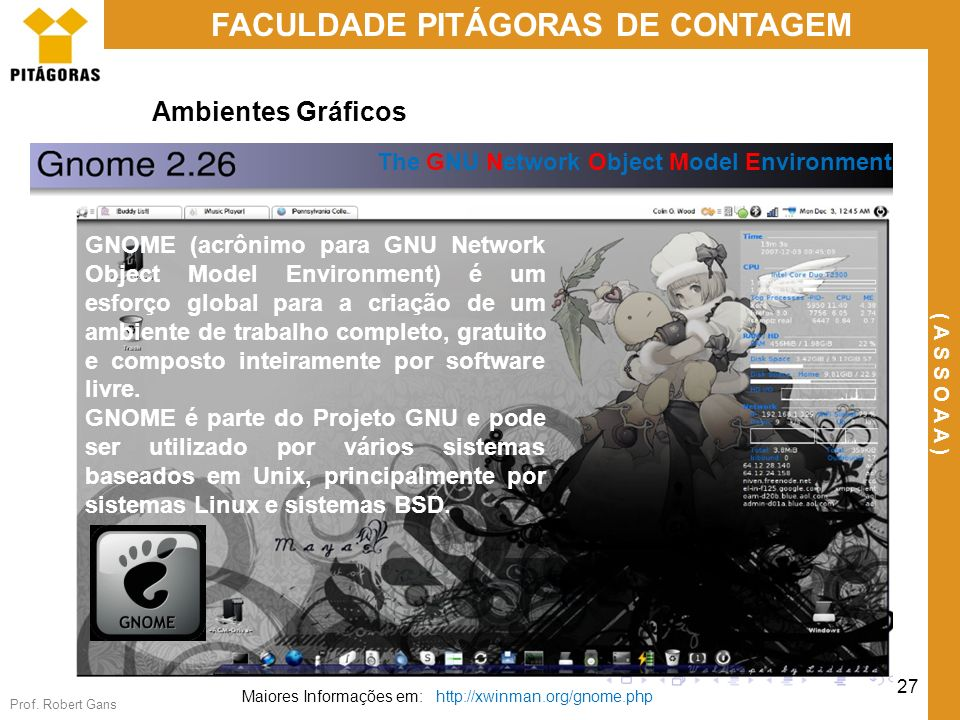 Ambientes Gráficos The GNU Network Object Model Environment