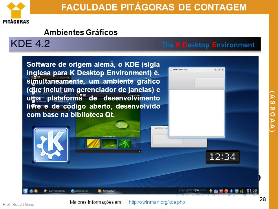 Ambientes Gráficos The K Desktop Environment