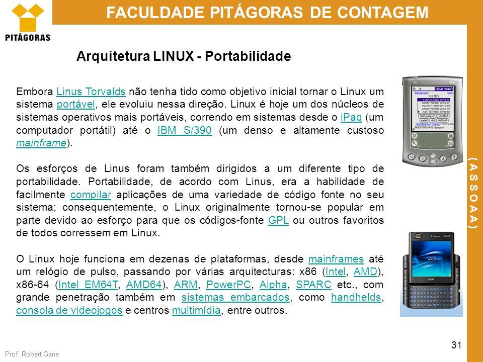 Arquitetura LINUX - Portabilidade