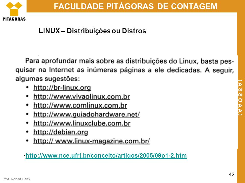LINUX – Distribuições ou Distros
