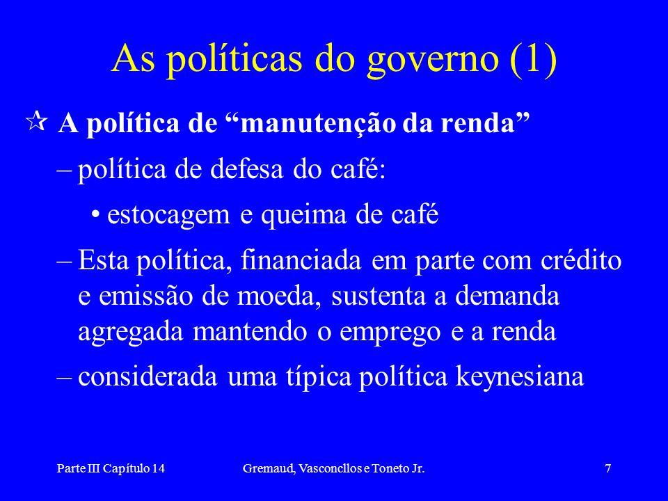 As políticas do governo (1)