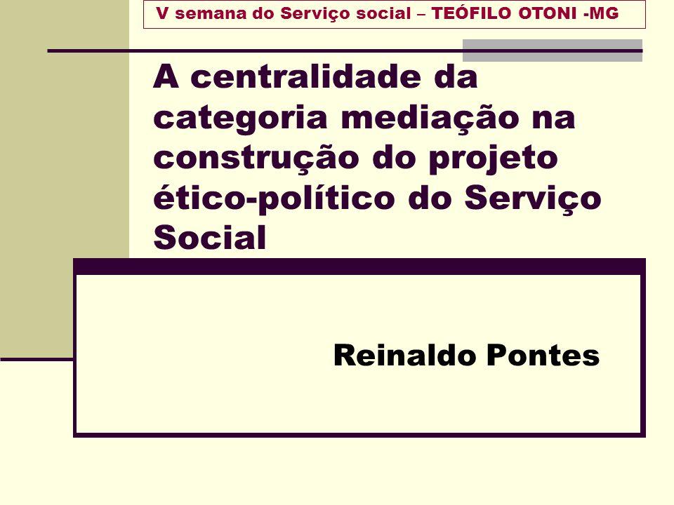 V semana do Serviço social – TEÓFILO OTONI -MG