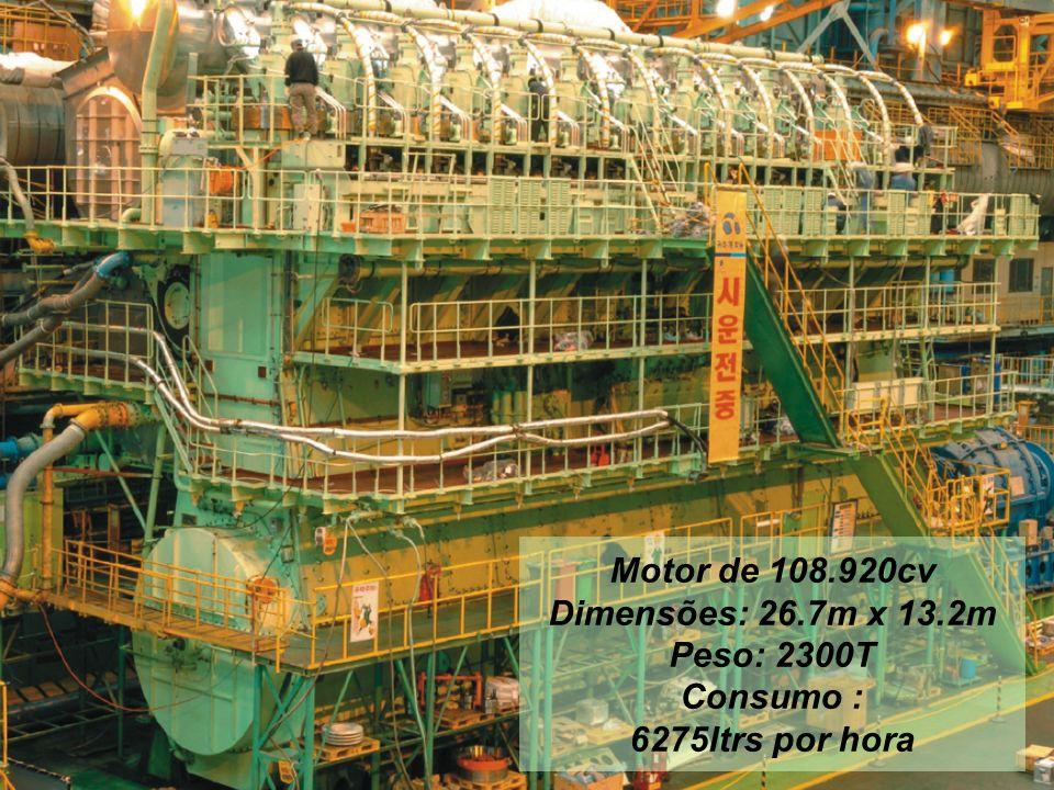 Motor de 108. 920cv Dimensões: 26. 7m x 13