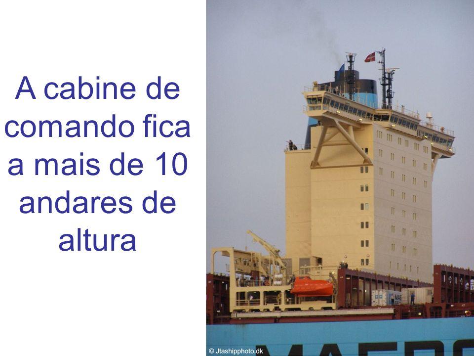 A cabine de comando fica a mais de 10 andares de altura