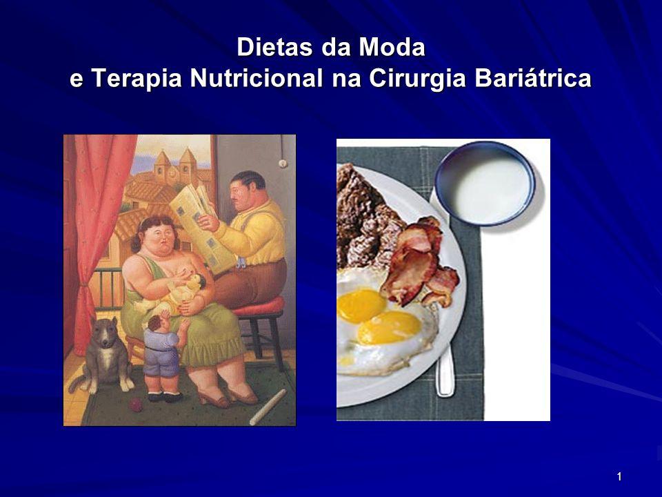 Dietas da Moda e Terapia Nutricional na Cirurgia Bariátrica