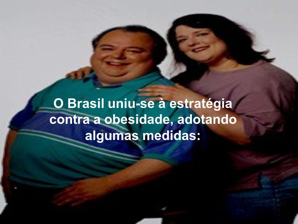 O Brasil uniu-se à estratégia contra a obesidade, adotando algumas medidas: