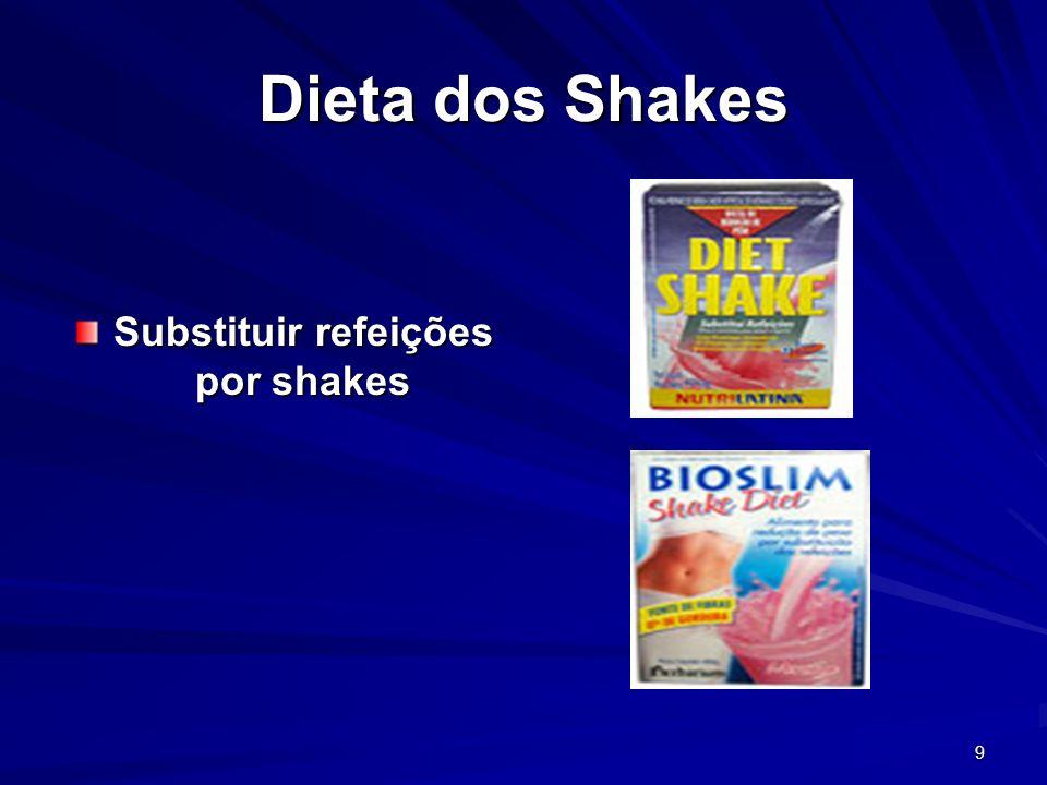 Substituir refeições por shakes